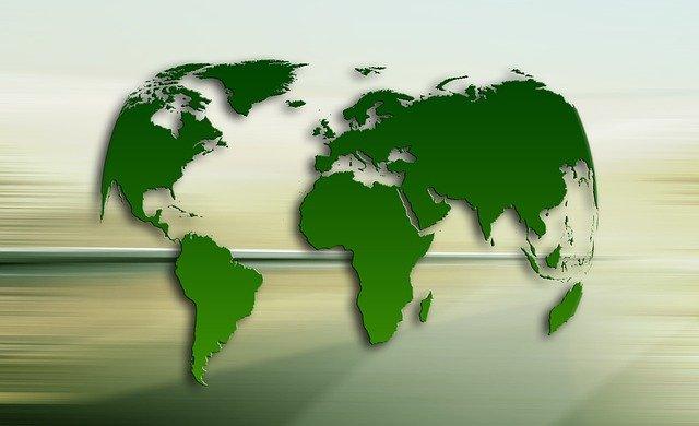 Carte monde verte